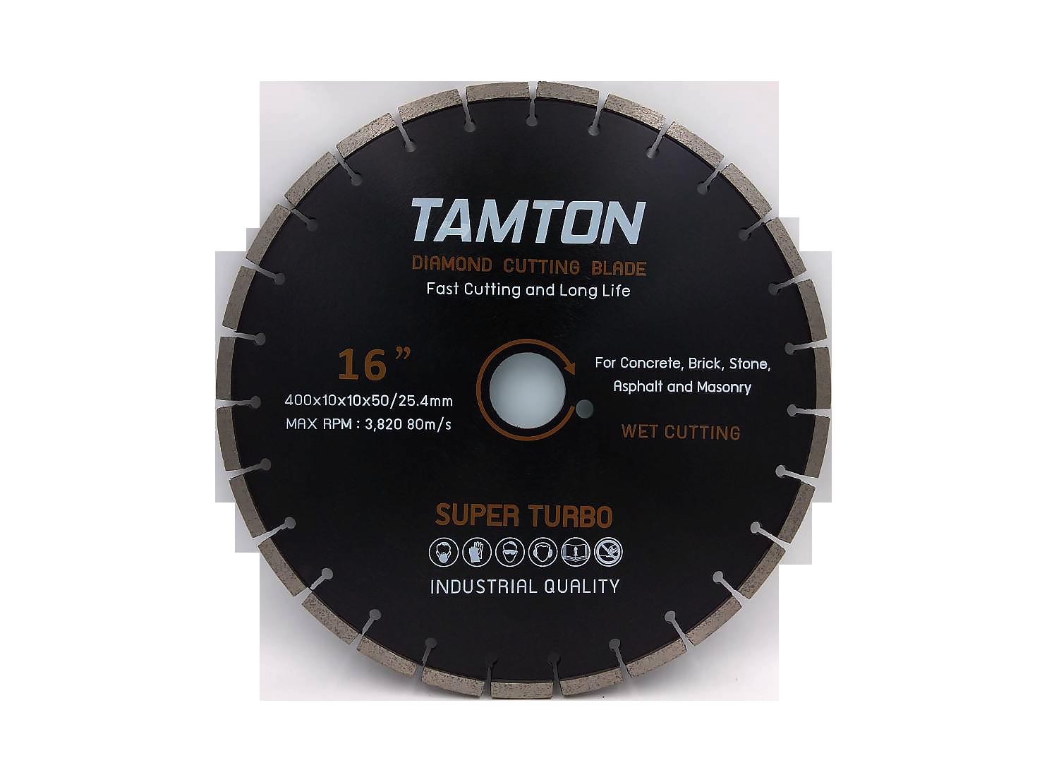 """ใบเพชรตัดคอนกรีต TAMTON 16"""" หนา 10 mm"""